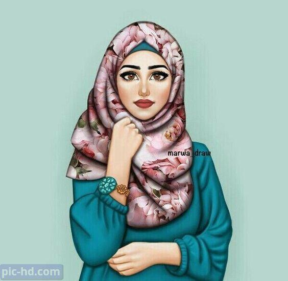 رمزيات بنات محجبات اجمل صور رمزيات بنات كيوت رمزيات كشخه للبنات Girly Art Digital Art Girl Girly Drawings