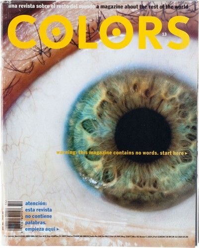 "cMag354 - Colors Magazine cover ""No Words"" by Tibor Kalman / Nº 13 / December 1995"