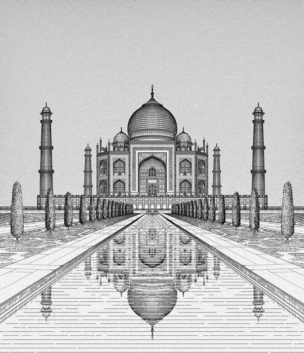 The Taj, Agra   The Taj, Agra on Behance  Best Picture For  Architecture perspective concept  For Yo