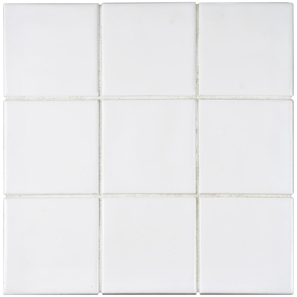 Merola Tile Twist Square White Ice 11 3 4 In X 11 3 4 In Ceramic Mosaic 9 79 Sq Ft Case Wrc4twwi The Home Depot Elitetile Ceramic Wall Tiles Merola Tile