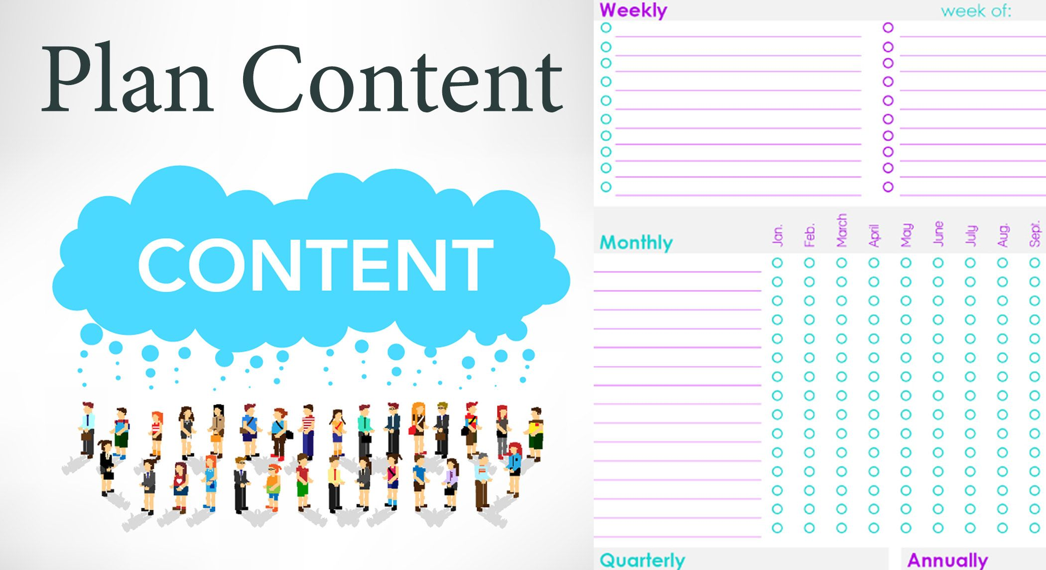 Planning content for marketing