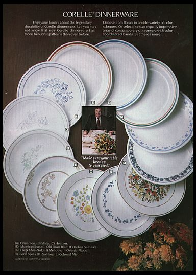 Corelle dinnerware... I am hoping the round plates etc. are all standard & Corelle dinnerware... I am hoping the round plates etc. are all ...