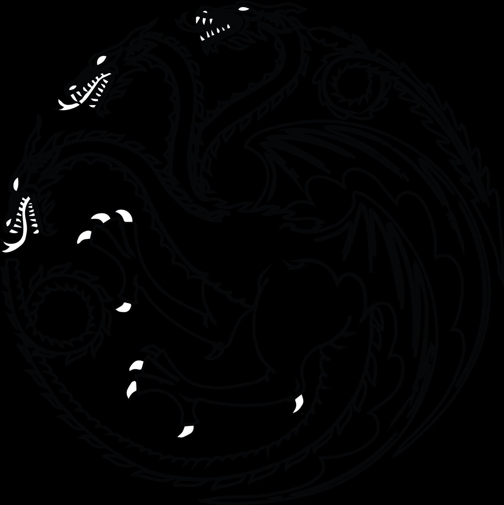 Open Full Size Black And White House Targaryen Sigil Download Transparent Png Image And Share Seekpng Wi House Targaryen Sigil Targaryen Sigil House Targaryen