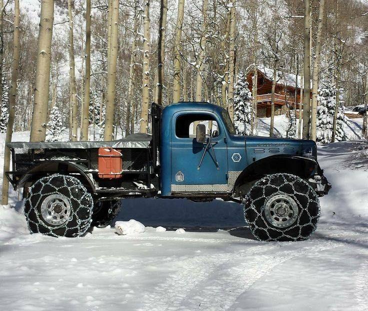 Old Blue Dodge Power Wagon