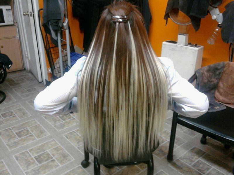 Brownhairwithplatinumhighlights Dark Brown Hair With Blonde