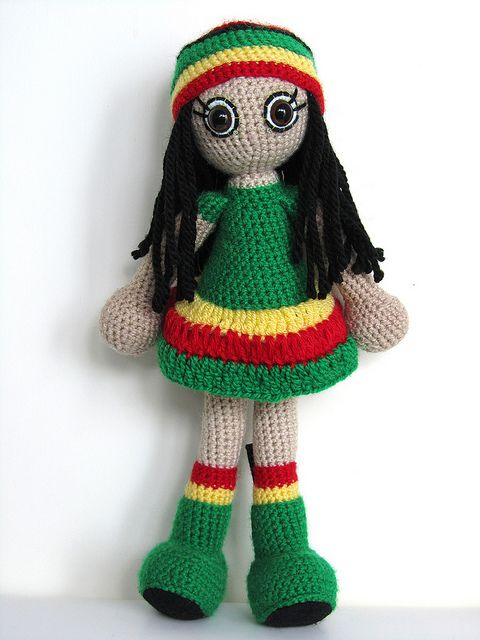 Sunshine reggae art doll | Muñecas de crochet, Rastas y Patrón gratis