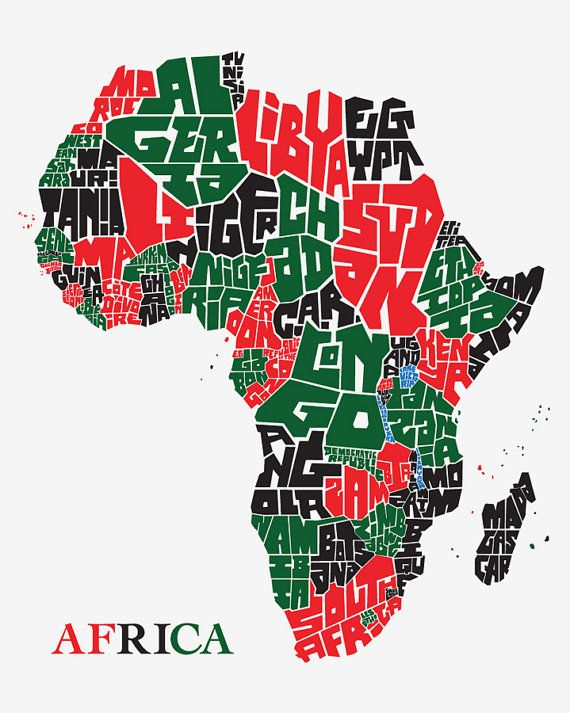 Africa | Graphic Design in 2019 | Africa, Africa map, Map