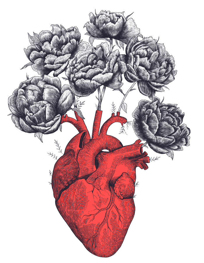 Heart With Peonies Art Print By Kodamorkovkart Worldwide Shipping Available At Society6 Com Just One Of Millions Of Peonies Art Print Peony Art Heart Artwork