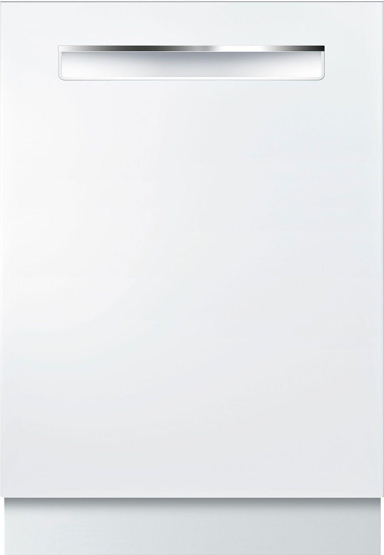 Bosch 24 500 Series White Pocket Handle Dishwasher Shpm65z52n In 2020 Dishwasher White Integrated Dishwasher Fully Integrated Dishwasher