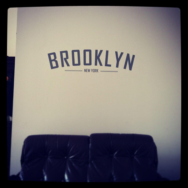 Brooklyn Wall Vinyl Decal Interior Stickers Typography Barbers - Custom vinyl decals brooklyn