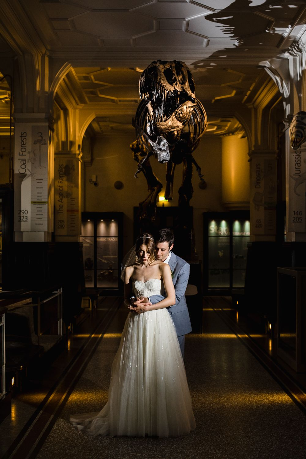 Manchester Museum Wedding Complete With Dinosaurs in the