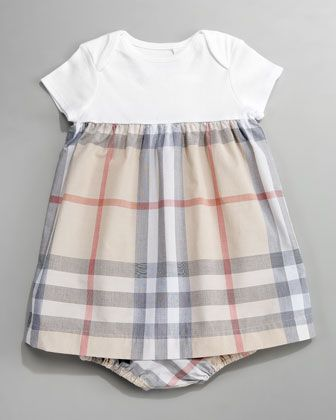 d94ebc043996 Knit Check Combo Dress by Burberry at Neiman Marcus.