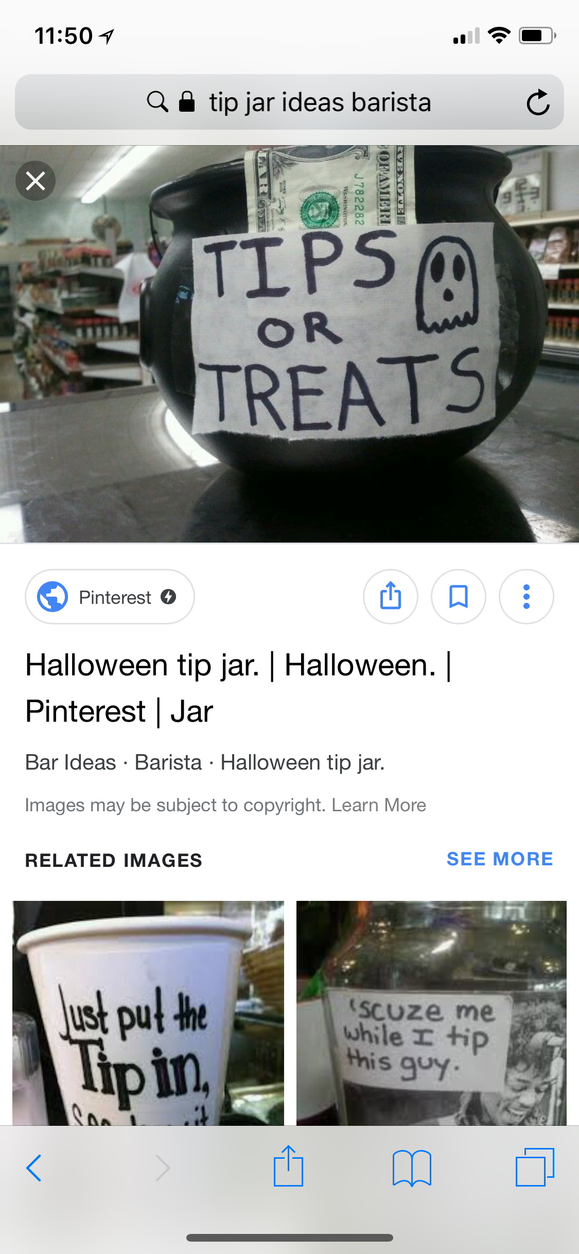 Pin By Taylor Kelly On Tip Jars Jar Bar Tip Jars Halloween Hacks