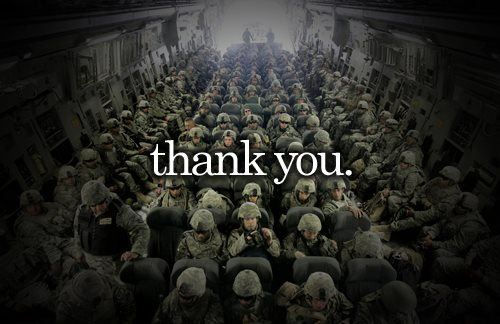 remember when you see someone in uniform to stop and say thank you. it's the easiest and best  DIY you will feel good about