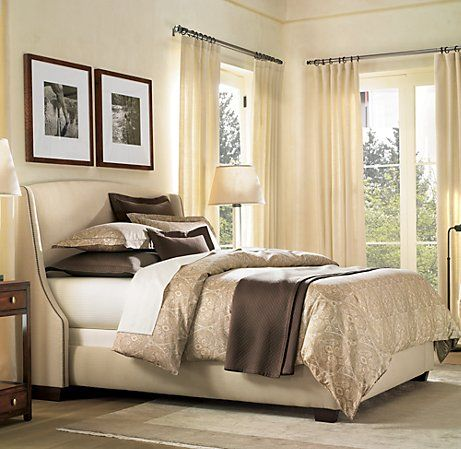 Upholstered Bed - I am trying to decide about the picture placement above the bed