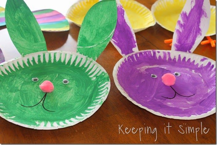 Keeping it Simple Easter Kids Craft Idea Paper Plate Easter Animals & Paper-plate-Easter-Kids-Crafts (14) | Activites | Pinterest | Easter ...