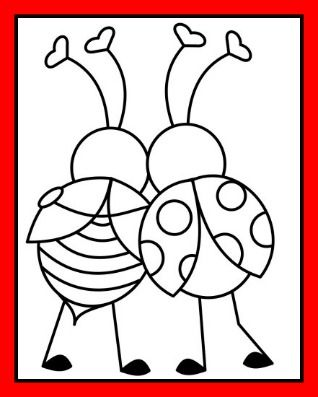 Love Bugs Valentine S Day Coloring Page Valentines Day Coloring