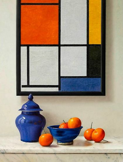 Johan de Fre  Homage to Piet Mondrian  21st century