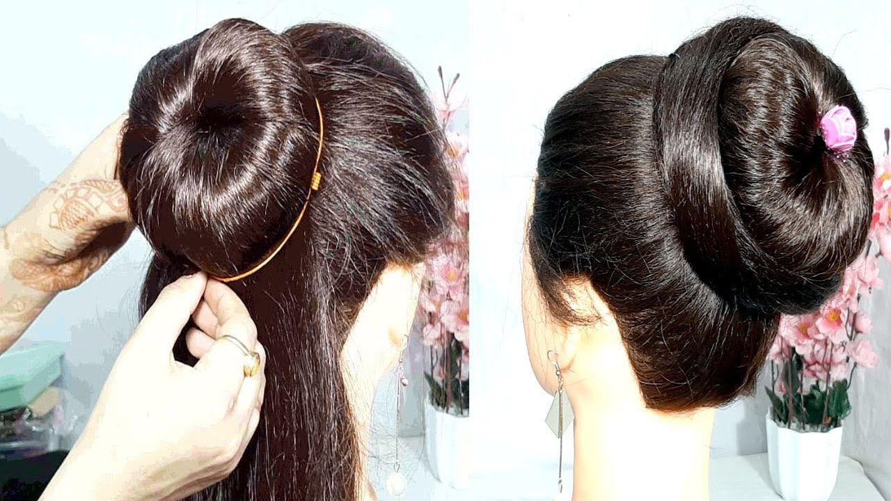 1 minutes coiffure utilizing donut bun | simple hairstyles