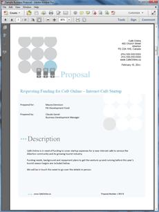 Startup Funding Sample Business Plan