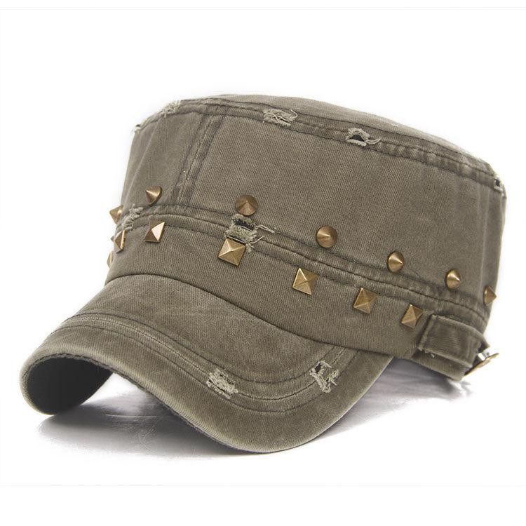 ff4fd273b27 Beaded Vintage Cotton Army Fatigue Flat Top
