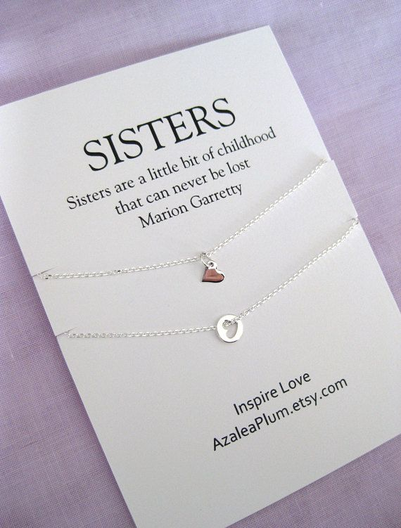 Sisters Necklace For Two Twin Gift 2 Daughter Sister SISTER Jewelry Maid Of Honor
