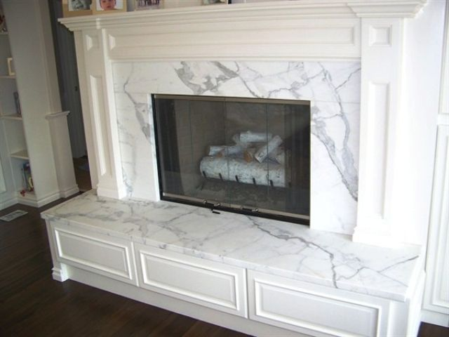 Statuary White Marble Fireplaces