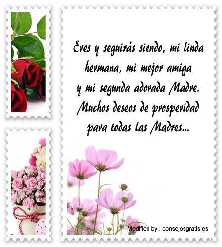 Bonitos Mensajes Por El Dia De La Madre Para Mi Hermana Con