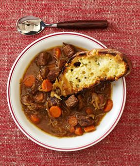 French onion beef stew for the slow cooker