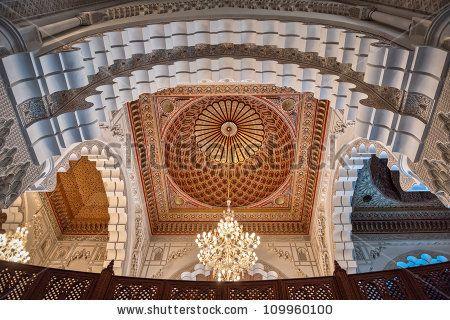 Hassan Ii Mosque Interior Corridor Columns Stock Photo 109960109 ...