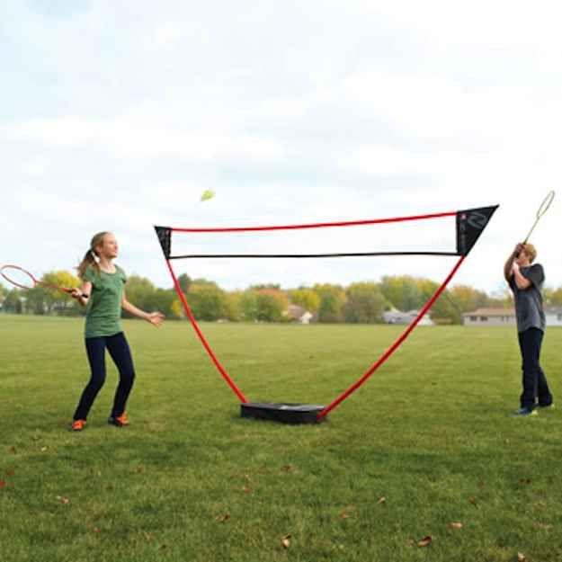 A Freestanding Badminton Net Badminton Court Badminton Nets Badminton