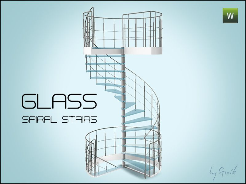 gosik 39 s glass spiral stairs sims 3 deko. Black Bedroom Furniture Sets. Home Design Ideas