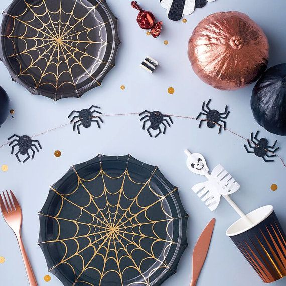 HALLOWEEN / Paper Plates / Home Decor / Halloween Party / Party - halloween party decorations cheap