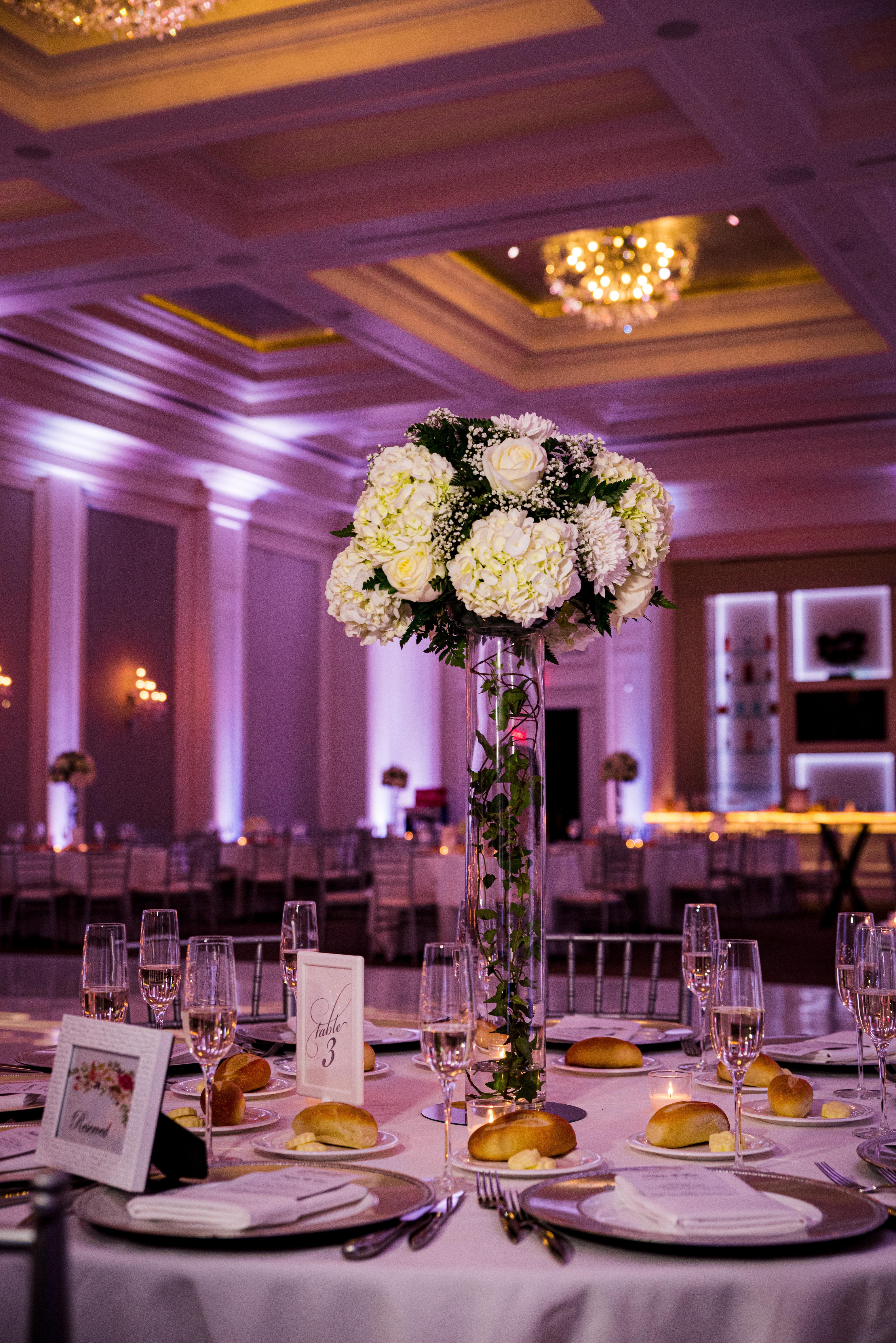 Wedding Flower Table Decor The Ballroom at Ellis