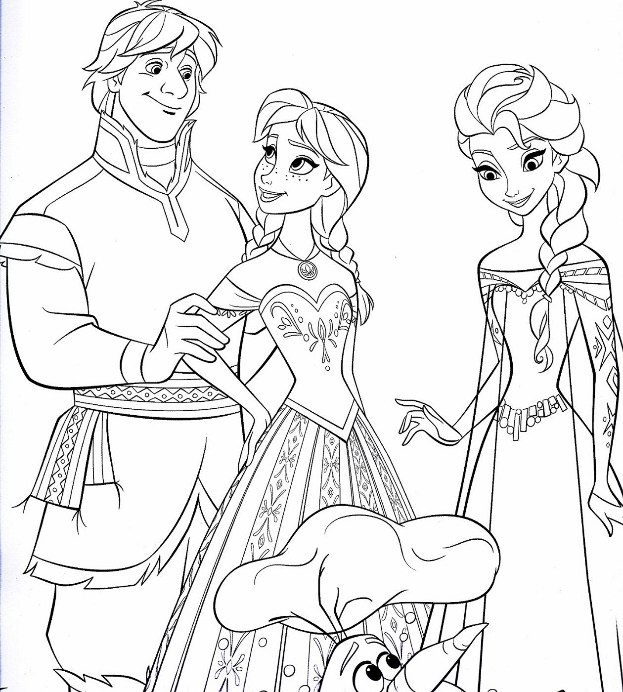 Frozen Worksheets Coloring Printable In