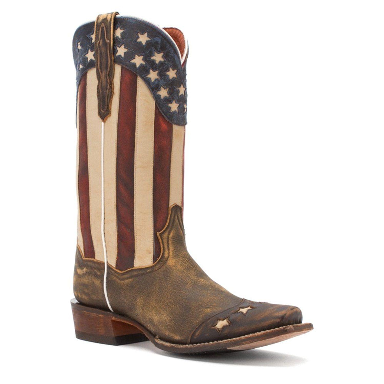 Dan Post Men S Liberty Stars Cowboy Boot Square Toe
