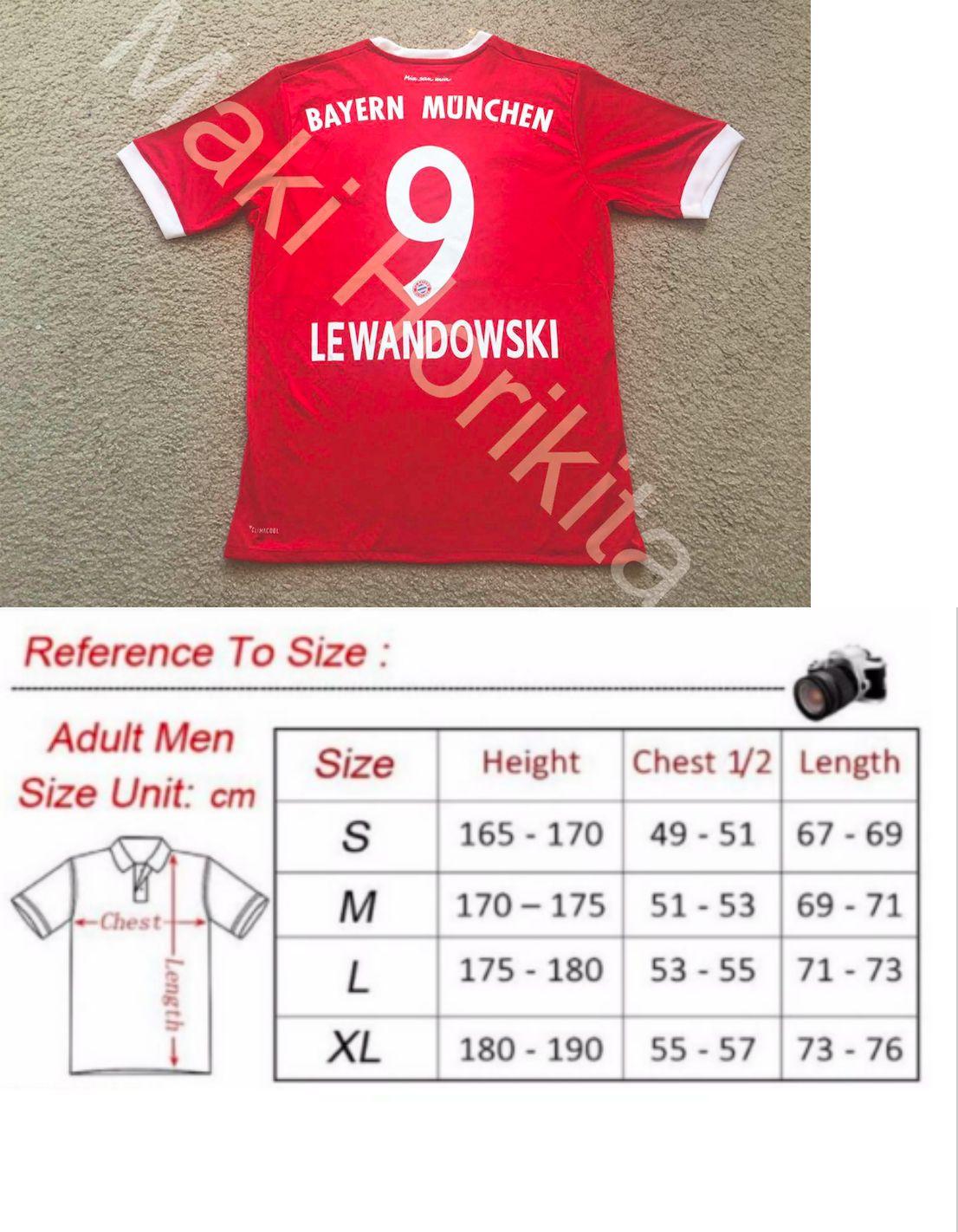 72eb7ec3760 Soccer-International Clubs 2887  Robert Lewandowski Bayern Munich Home Poland  Jersey Nwt -
