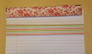 Decorated note pads - run a strip of DSP across the top to make customised note pads www.caroprettythings.com