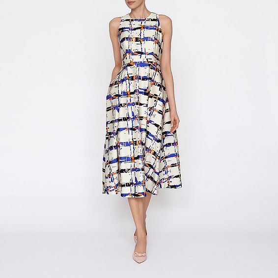 L. K. Bennett Coney dress in silk and cotton. One to watch for ...
