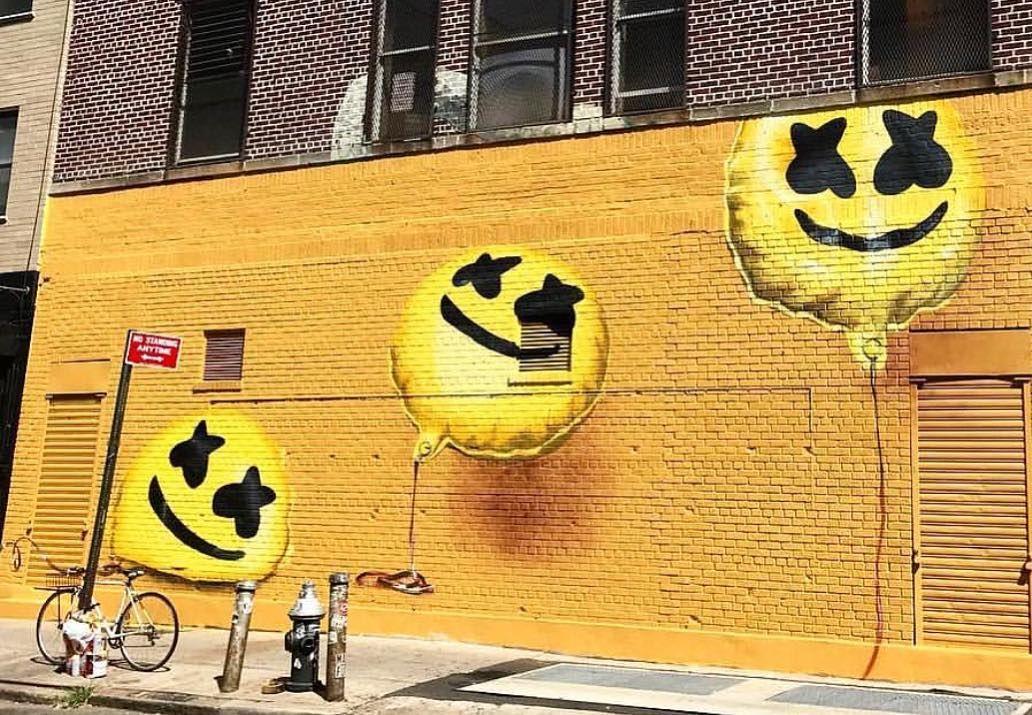 happier marshmello marshmellomusic graffiti nyc