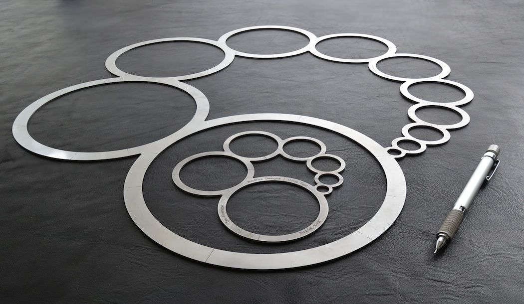 WindFire Designs Metal Circle Tool Template for hot and cold - circle template