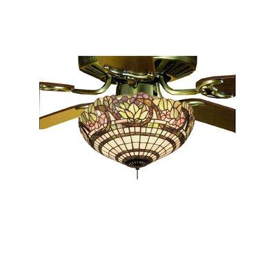 Fleur De Lis 3 Light Bowl Ceiling Fan Light Kit In 2020 Tiffany Ceiling Fan Fan Light