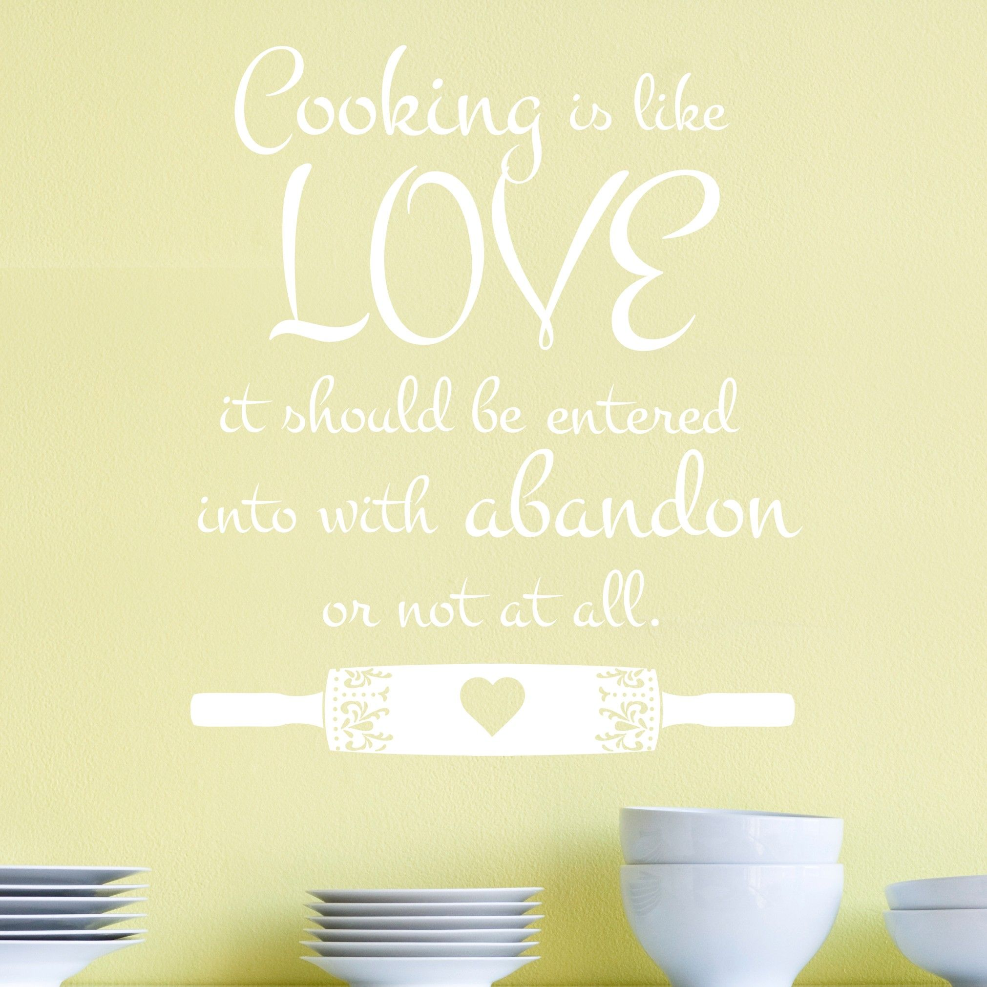 Cooking is like Love Julia Child Quote - Vinyl Wall Art Decal for ...