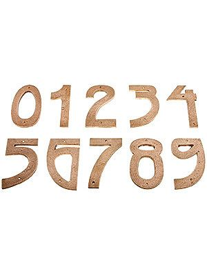 Arts Crafts Tumbled Copper House Numbers 5 Height Arts Crafts House House Numbers House Address Numbers