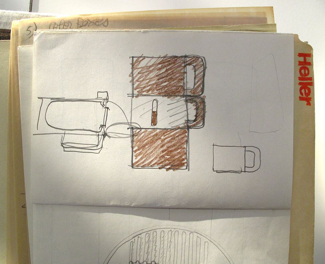 Sketches For Heller Coffeepot By Massimo Vignelli Pencil On Paper 8