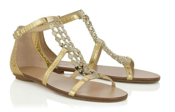 e35d2bd9b Gold Cubed Mirror Leather Flat Sandals This stunning sandal has a beautiful  jewelled piece made of