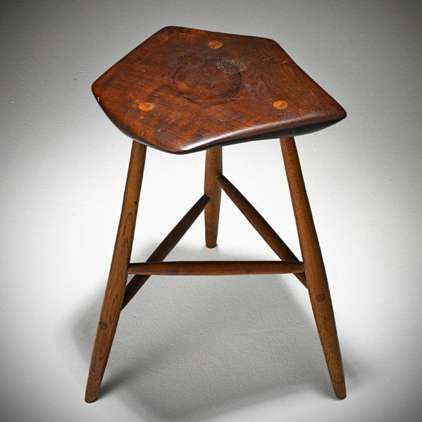 Wharton Esherick Stool Lot 606 Scandinavian Style Furniture Stool Furniture Chair