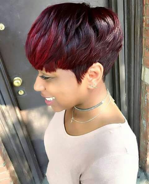 My Nexted Style Natural Pixie Haircut Cut Wig Red Tapered