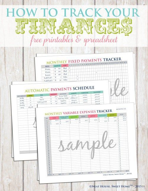 How To Track Your Finances - Free Printable Pinterest Free - expenses tracking spreadsheet