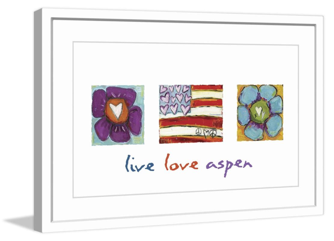 Marmont Hill Live Love Aspen - in Frame Fine art print in frame from the Tori Ca 16 x 24 Home Decor Wall Decor Art Prints